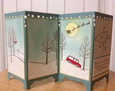 Stampin Up handmade Christmas card - screen divider - Winter wonderland