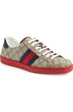 GUCCI 'New Ace' Sneaker (Men). #gucci #shoes #