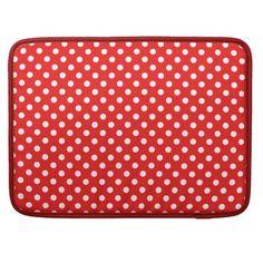 Punkte weiß auf rot sleeve MacBooks