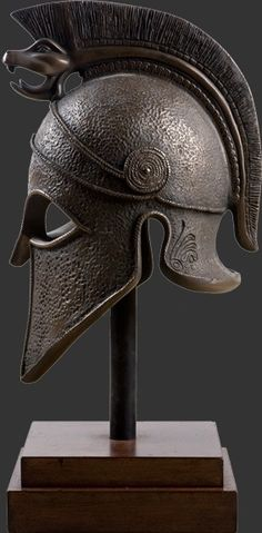 Alexander The Great Helmet Prop Display Decor (side view)