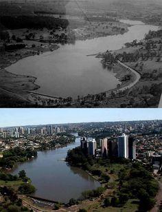 lago igapó - antes e depois
