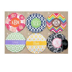 Brighten up your office space!!  Monogrammed mouse pads!  $14