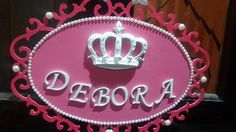 Placa coroa menina