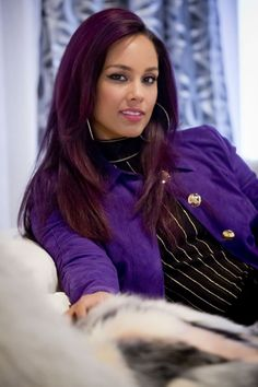 alicia keys empire - love her hair color! Alicia Keys, Manhattan, New York, Meagan Good, Hip Hop, Hot Hair Styles, Bridesmaid Outfit, Thing 1, Purple Suede