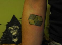 Tattoo<3 Its a paradigm shift inspired by necker cube done by my friend Onur a.k.a. rob colour.? Tattoo~