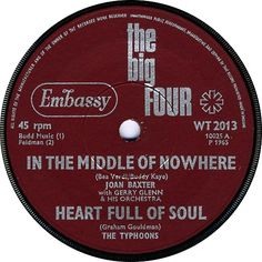 The Big Four (In The Middle Of Nowhere / Heart full Of Soul) - Joan Baxter / The Typhoons (WT2013) Jan '65