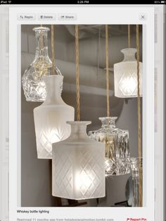 Diy Decanter Pendant Light as well as instructions on the wiring
