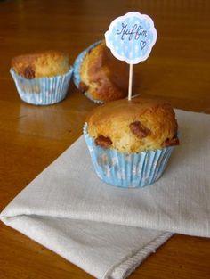 Recette - Muffins sans beurre à la compote, fève tonka et pépites de Pralinoise - Notée 5/5 par les internautes