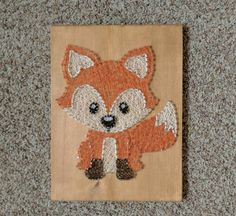 Made to order fox string art