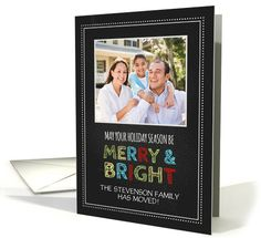 Photo Merry & Bright Christmas We've Moved Card -... (1147124) by Dreaming Mind Cards