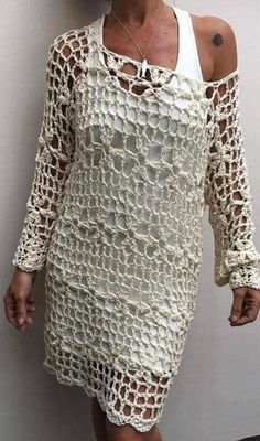 Crochet marlene blouse oh i was so excited to see the croch Crochet Beach Dress, Crochet Blouse, Crochet Lace, Crochet Skirt Pattern, Crochet Dolls Free Patterns, Crochet Woman, Crochet Fashion, Crochet Clothes, Crafts