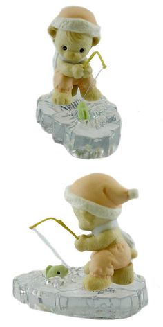 Cherished Teddies Christmas: Precious Moments Wishing You A Yummy Christmas Porcelain Bear Fishing 455814 -> BUY IT NOW ONLY: $37.99 on eBay!