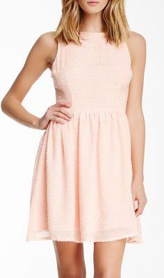 BB Dakota Sleeveless Fit  Flare Dress