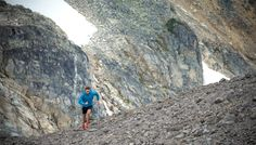Arc'teryx athlete Adam Campbell trail running in Whistler