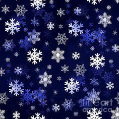 Dark Blue Snowflakes