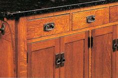 Mission style cabinets