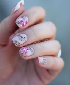If you are looking for spring nail art over the internet over and over then you must go with our suggested collection of cherry blossoms. Trendy Nail Art, Cute Nail Art, Cute Nails, Pretty Nails, My Nails, Spring Nail Art, Spring Nails, Summer Nails, Nail Art Designs