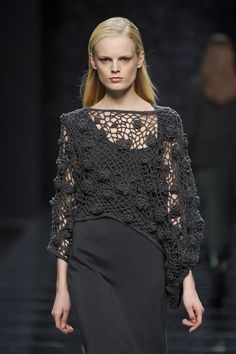 Anteprima at Milan Fashion Week Fall 2012 - Crochet