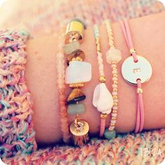 Gold Bracelets ♡ available at www.ibizamusthaves.nl