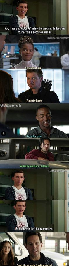 The avengers, violently doing things disney marvel, marvel dc comics, marvel avengers, Marvel Universe, Disney Marvel, Marvel Dc Comics, Marvel Films, Funny Marvel Memes, Dc Memes, Marvel Jokes, Funny Comics, The Avengers