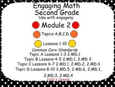 This Power point lesson will help you with Second Grade, Module 2 of the engage NY math program. You will find slides for Concept Development and Application Problem sections of the program. Don't forget to read each lesson prior to teaching it, because students also need many other manipulatives in this measuring unit.This was originally made for Smart Boards so it MAY NOT BE INTERACTIVE. 2.MD.5