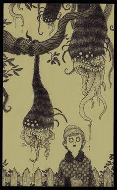 Artista cria um mundo surreal cheio de monstros em folhas de Post It