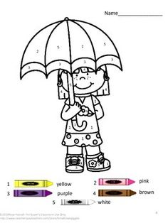 Spring Color By Numbers Coloring Pages. Children love to color. Coloring by numbers is a fun way for students to learn number and color words recognition. These Spring Color By Number Coloring Pages will help the student develop eye-hand coordination, color concept and color word recognition.