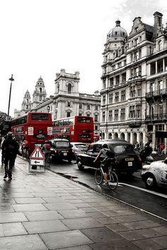 Splash of colour in London, England