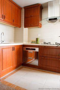 Traditional Medium Wood Cherry Kitchen Cabinets 22 Design Ideas