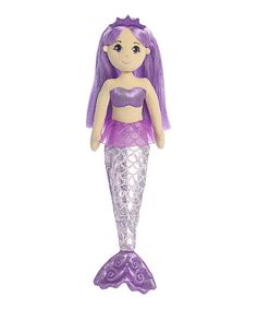 Look at this 18'' Amethyst Mermaid Doll on #zulily today!