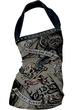 Alchemy England - Love the tattooed art look - halters are also a favourite!