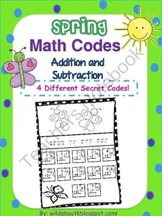 Secret Math Codes Addition and Subtraction  from Wild about Teaching on TeachersNotebook.com -  (11 pages)  - Secret Math Codes addition and subtraction