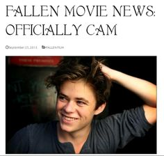 Its official!! Harrison Gilbertson has been cast as Cam in the film adaptation of Lauren Kate's Fallen.