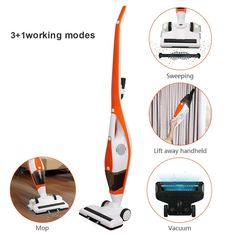 EVERTOP Cordless Vacuum Cleaner, 3 in 1 Upright Stick Vacuum Cleaner, Lightweight Cordless Wet and Dry Bagless Stick Mop Floor Cleaner with HEPA Filtration Cordless Vacuum Cleaner, Awesome Kitchen, Wet And Dry, Cool Kitchens, Vacuums, Household, Flooring, Amazon, Pug Dogs