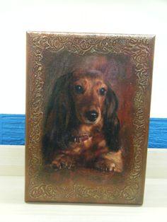 Ξύλινη κλειδοθήκη για αυτούς που αγαπούν τα σκυλάκια !!!!! Bookends, Painting, Home Decor, Art, Art Background, Decoration Home, Painting Art, Kunst, Paintings