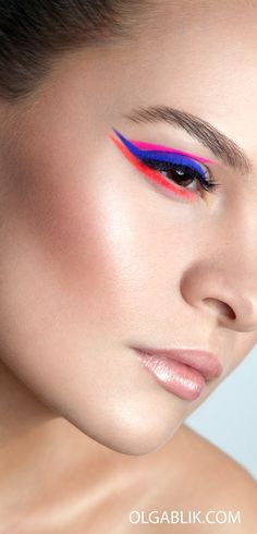 Colourful creative eyeliner