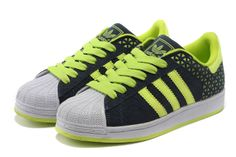 Adidas Superstar Shoes Green White
