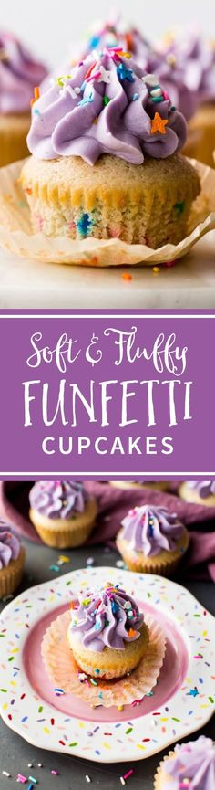 These are the BEST homemade funfetti cupcakes! From scratch soft and fluffy funfetti cupcakes with creamy vanilla buttercream and birthday sprinkles! Recipe on sallysbakingaddiction.com