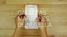 Galletas marrones de Nutella by No más — de mamá. www.nomas-demama.com
