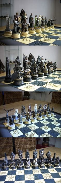 The Lord Of The Rings Chess Set! I don't play, but this would be a neat collectors' item.