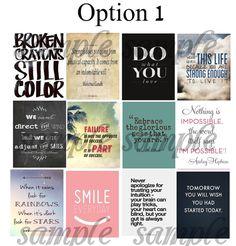Erin Condren Planner Stickers // Quotes #3 // Motivation // Inspiration