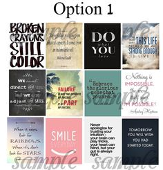 Quotes, #3, Planner Stickers, Stickers for Erin Condren Planner, Motivation, Inspiration, Smile, Love, Happiness, Family, Life, Smile,