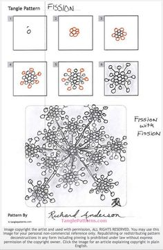 Fission. Tangle Pattern and Monotangle by Richard Anderson.