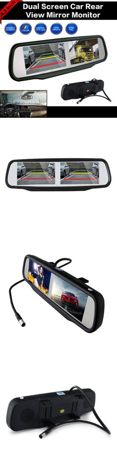 Rear View Monitors Cams and Kits: 4.3 Hd Dual Screen Car Reversing Mirror Monitor For Rear View Backup Camera -> BUY IT NOW ONLY: $59.97 on eBay!