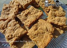 Flour-Free Peanut Butter Bars (scd)  Use Almond Butter for Paleo.