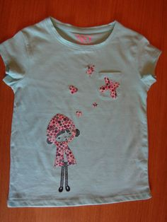 Camiseta nina pintada i amb aplicacions