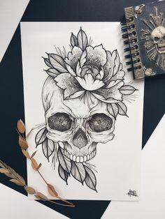 Schädel Tattoo Designs Tattoos Ideen Schädel Tattoo Designs Tattoos Ideas Informationen zu Desenhos de Caveiras para Tatuagem Tatuagens Ideias Pin Sie k&. Tattoo Sketches, Tattoo Drawings, Art Sketches, Body Art Tattoos, New Tattoos, Cool Tattoos, Tatoos, Dark Art Tattoo, Small Tattoos