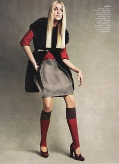 Patrick Demarchelier – Brights! Camera! Action! Caroline Trentini for Vogue US September 2007 styled by grace coddington