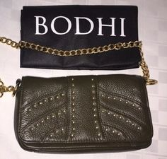 BODHI Designer Cross Body. Adorable Bag, NWOT!! Olive Green And Gold Hardware! - http://clothing.goshoppins.com/bags-handbags/bodhi-designer-cross-body-adorable-bag-nwot-olive-green-and-gold-hardware/
