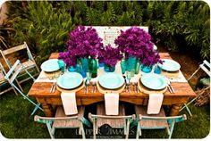 la decoración de mis mesas: Una comida en el jardín